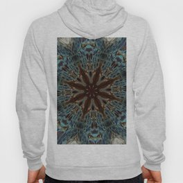 Fluid Nature - Chocolate Teal Mandala Style Design Hoody