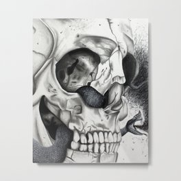 Swarming Psychedelic Metal Print