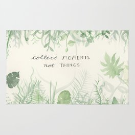 Collect Moments foliage watercolor Rug