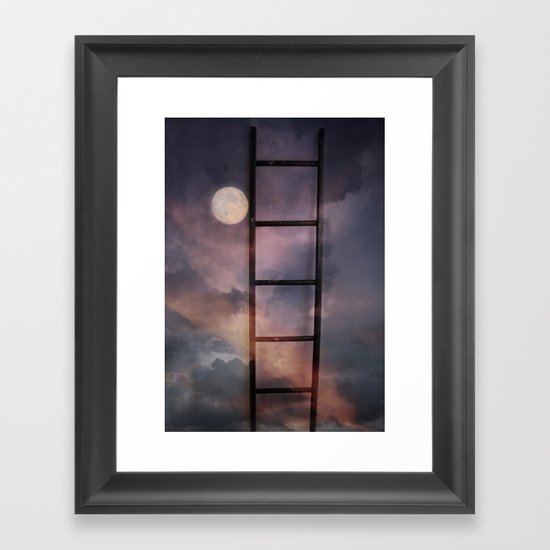 Beyond the Moon and back Framed Art Print