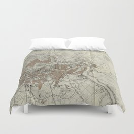 1893 Historic Map of St. Petersburg Duvet Cover