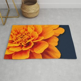 Marry Me Gold and Navy Marigold Rug