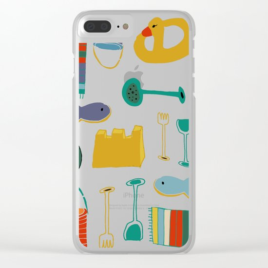 beach gear blue Clear iPhone Case