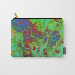 Dotted Leaf  Carry-All Pouch