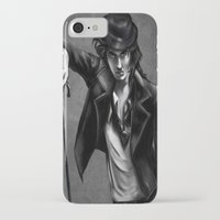 charlie chaplin iPhone & iPod Cases featuring Charlie Chaplin by Monashka