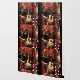 The acoustic guitar Wallpaper