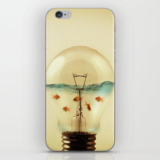 gold fish globe iPhone & iPod Skin