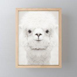SMILING ALPACA Framed Mini Art Print