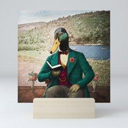 Monsieur Mallard Reading an Improving Book Mini Art Print