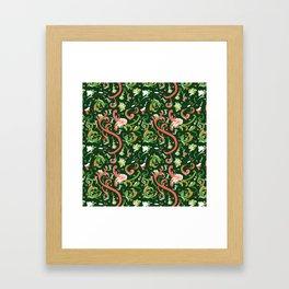 Swirly Trendy_Green Framed Art Print