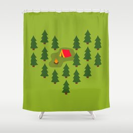 Camping Love Shower Curtain