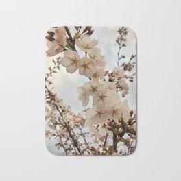 Vintage Cherry Blossoms Bath Mat