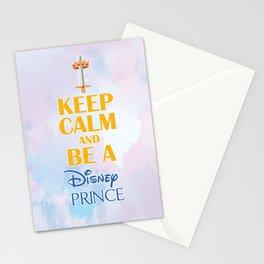 Keep Calm & be a Prince Stationery Cards