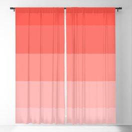 Living Coral Gradient Stripes Blackout Curtain