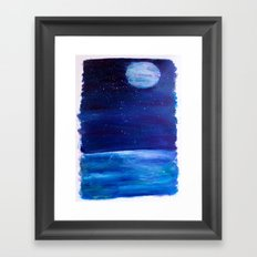 At night  Framed Art Print
