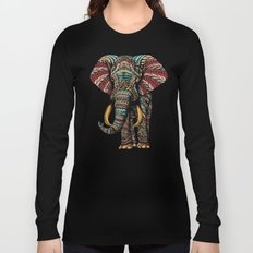 Ornate Elephant (Color Version) Long Sleeve T-shirt