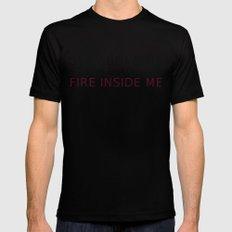 FIRE INSIDE ME MEDIUM Mens Fitted Tee Black