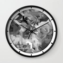 Black / White and Gray Scale Geometric Geometry Shape Pattern Wall Clock