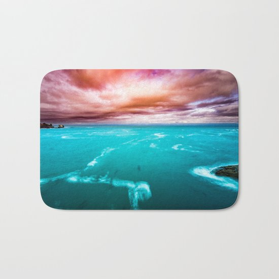 Fire and Water Sea Bath Mat