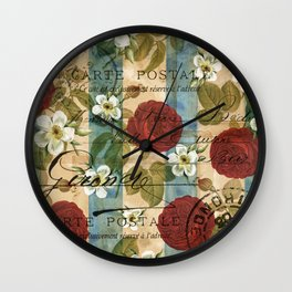Parisienne Roses Wall Clock
