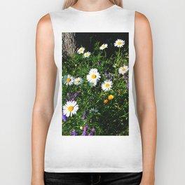 Wildflowers by the River Biker Tank