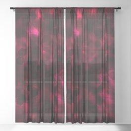 Digital Forest Warm Variant Sheer Curtain