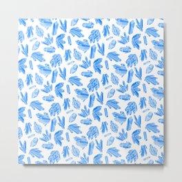 Crystals - China Blue Metal Print