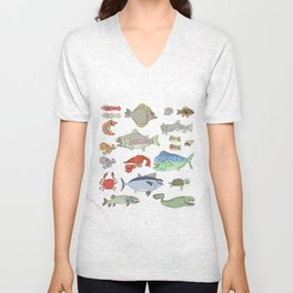 Seafood Buffet Unisex V-Neck
