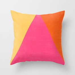 mod triangles - summer  Throw Pillow