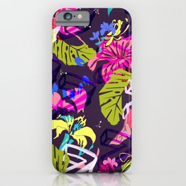 Mad Tropics Seamless Print iPhone Case