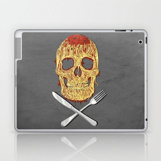 Spaghetti Skull Laptop & iPad Skin