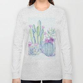Mixed Cacti Light Blue #society6 #buyart Long Sleeve T-shirt