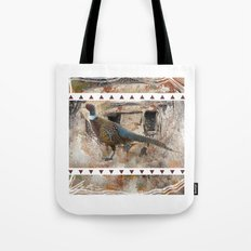 Pheasant Pillow Design Tote Bag