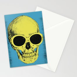 Pop Art Skull in Sunglasses Stationery Cards