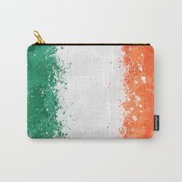 Ireland Flag - Messy Action Painting Carry-All Pouch