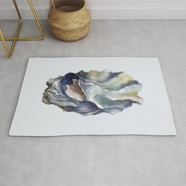 Shell watercolor illustration 2 Rug