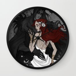 Hades and Persephone Wall Clock