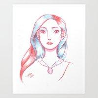 pocahontas Art Prints featuring Pocahontas by AndytheLemon