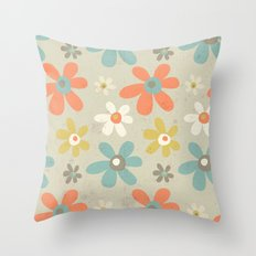 flowers pattern Throw Pillow
