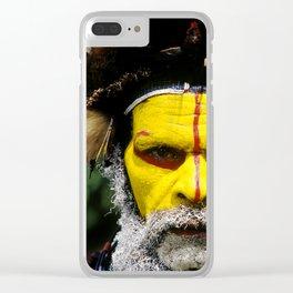 Papua New Guinea: Huli Wigman Clear iPhone Case