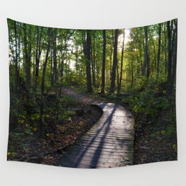 Boardwalk through the forest in southern Ontario Wall Tapestry