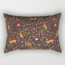 Tortoise and the Hare in Red Rectangular Pillow