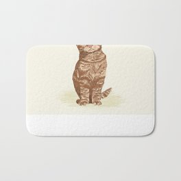 Orange Tabby Cat cute sitting cat lady gift customized pet portrait pet friendly gifts for cat owner Bath Mat