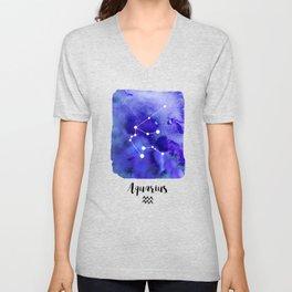 Aquarius Constellation Unisex V-Neck