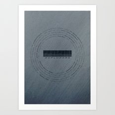 MOON Explorers  - MINIMALIST POSTER Art Print