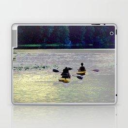 Twilight Kayaking Beach Lake, PA Laptop & iPad Skin