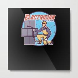 Electrician Electric Proud Skills Metal Print