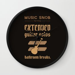 Solos = DON'T GO-s! — Music Snob Tip #723 Wall Clock