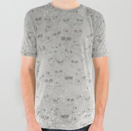 Skulls Pattern All Over Graphic Tee