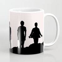 1d Mugs featuring 1D Silhouettes by LithiumCrystal